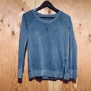 J. CREW Gray - Indigo Zipper Sweatshirt X-Small XS